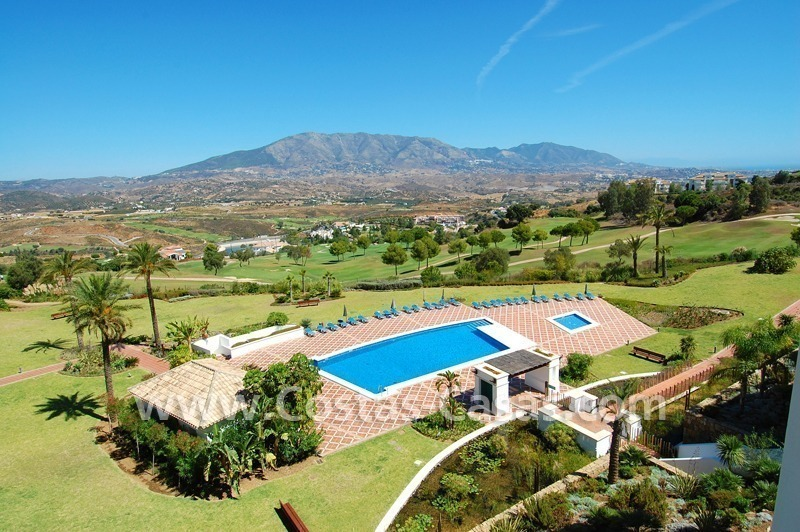 Penthouse appartement te koop in Golfresort te Mijas, Costa del Sol