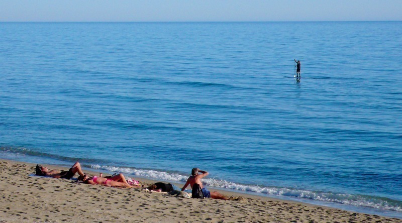 marbella strand in winter