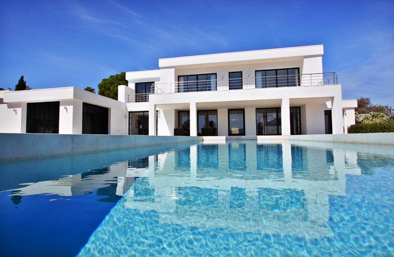 Marbella villa for sale frontline golf moderne villa te koop - Foto moderne villa ...