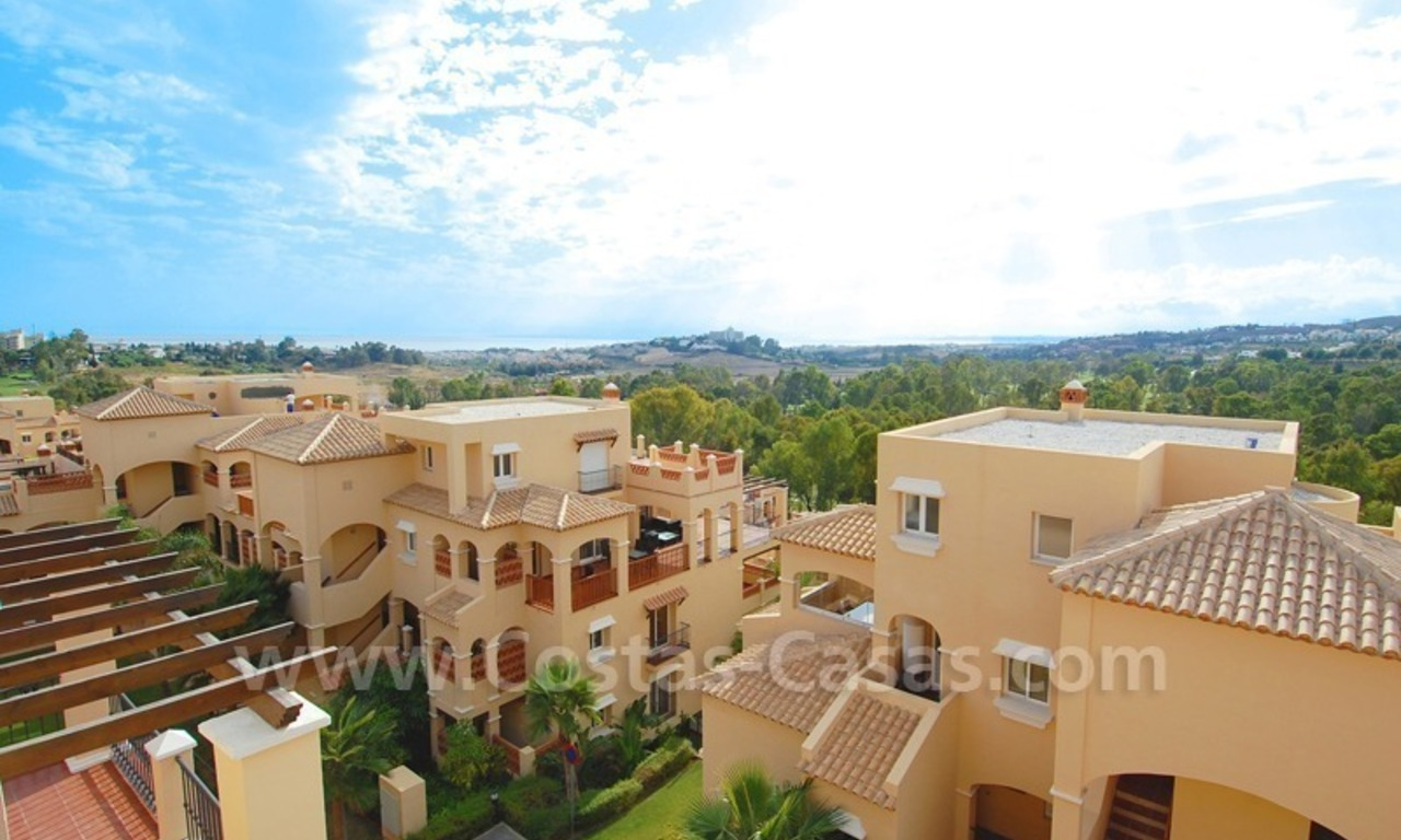 Marbella for sale: luxe front line golf appartementen te koop Marbella Benahavis 13