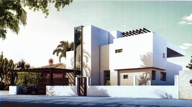 marbella direct aan strand moderne nieuwe villa te koop. Black Bedroom Furniture Sets. Home Design Ideas