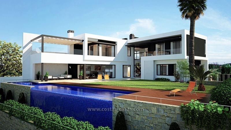 moderne villa te koop eerstelijns golf nueva andalucia. Black Bedroom Furniture Sets. Home Design Ideas