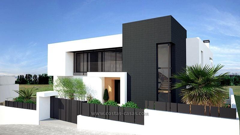 Moderne villa te koop eerstelijns golf nueva andalucia marbella - Moderne verdieping ...