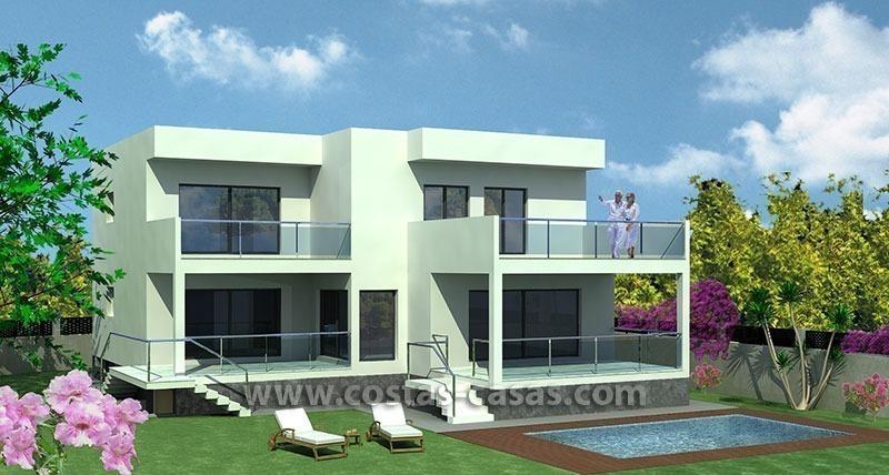 Moderne nieuwe villa s te koop eerstelijn strand in marbella for Petite villa moderne