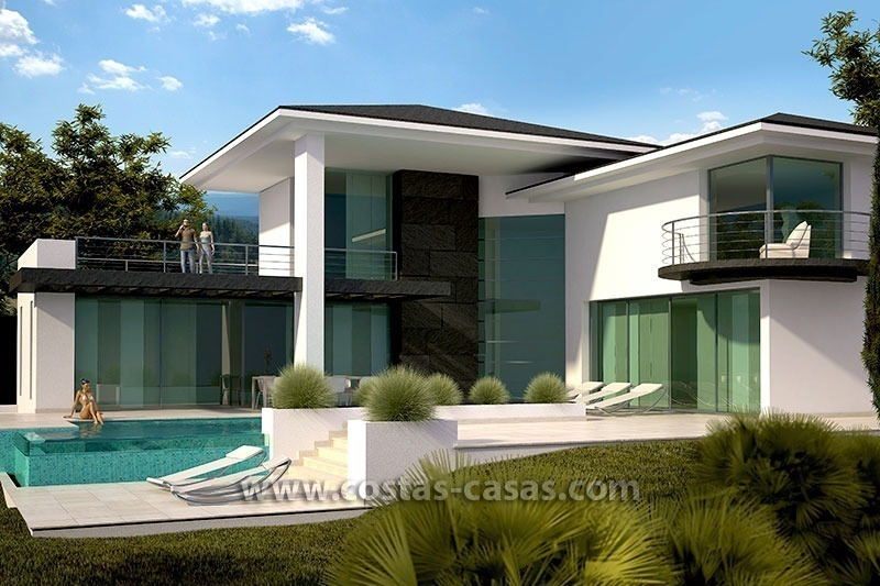 nieuwe moderne luxe villa te koop in marbella. Black Bedroom Furniture Sets. Home Design Ideas