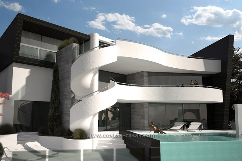 Te koop nieuwe moderne luxe villa marbella for Modern huis binnenhuisarchitectuur villas