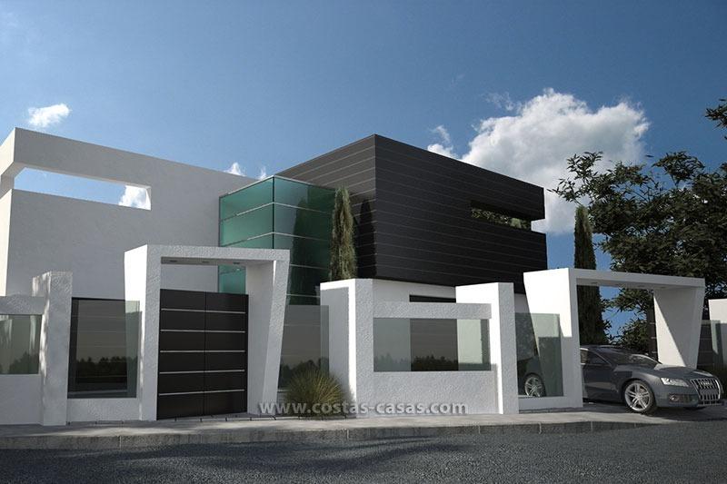te koop nieuwe moderne luxe villa marbella met prachtig zeezicht. Black Bedroom Furniture Sets. Home Design Ideas