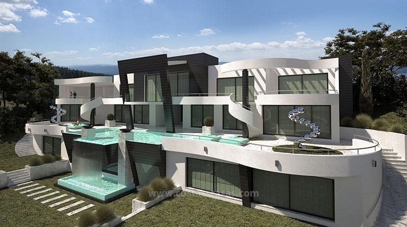 te koop nieuwe hypermoderne luxe villa marbella. Black Bedroom Furniture Sets. Home Design Ideas