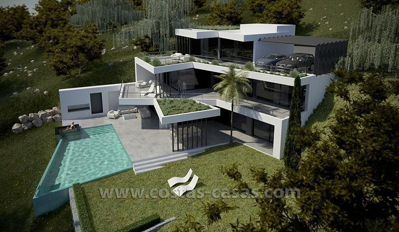 Nieuwe moderne luxe villa te koop marbella for Villa de luxe design