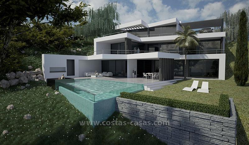 Nieuwe moderne luxe villa te koop marbella for Maison de luxe plan