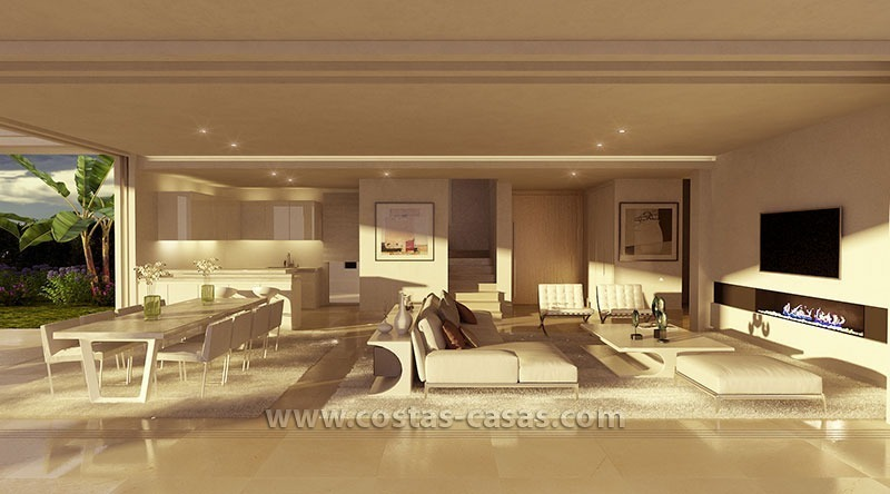 nieuwe moderne villa te koop grote terrassen marbella. Black Bedroom Furniture Sets. Home Design Ideas