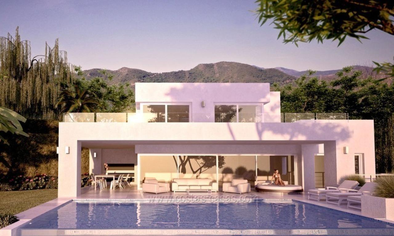 Koopje strak moderne nieuwe villa te koop in marbella