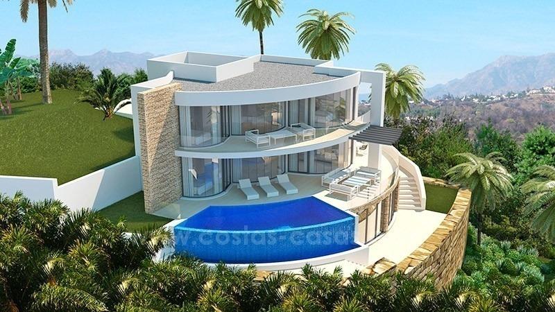 Luxe nieuwe moderne villas te koop in marbella benahavis for Grande villa luxe moderne