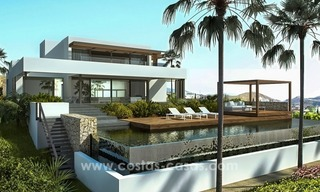 Moderne eerstelijn golf Villa te koop in golfresort op de New Golden Mile, Benahavis – Marbella 1
