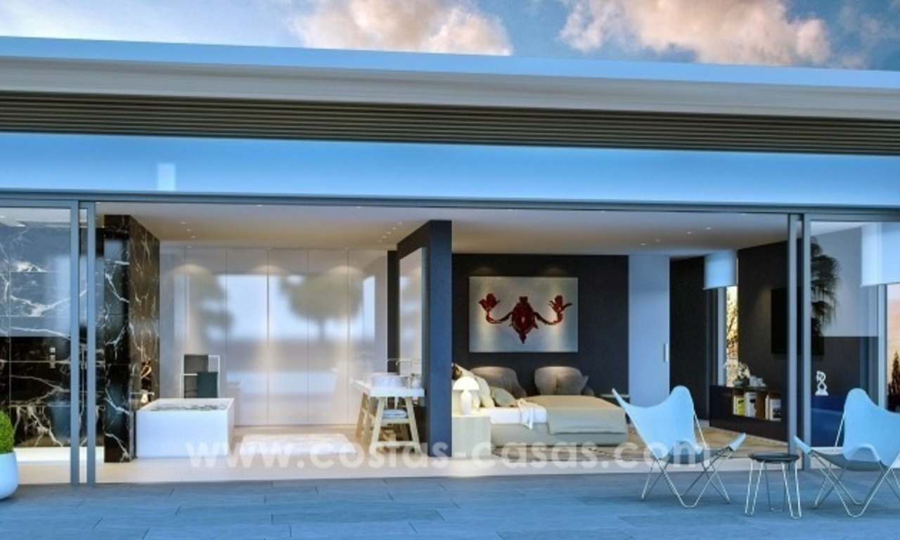 Moderne eerstelijn golf Villa te koop in golfresort op de New Golden Mile, Benahavis – Marbella 5