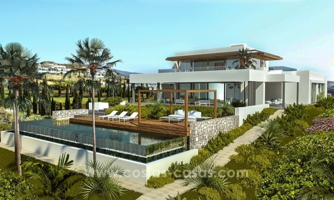 Moderne eerstelijn golf Villa te koop in golfresort op de New Golden Mile, Benahavis – Marbella 4