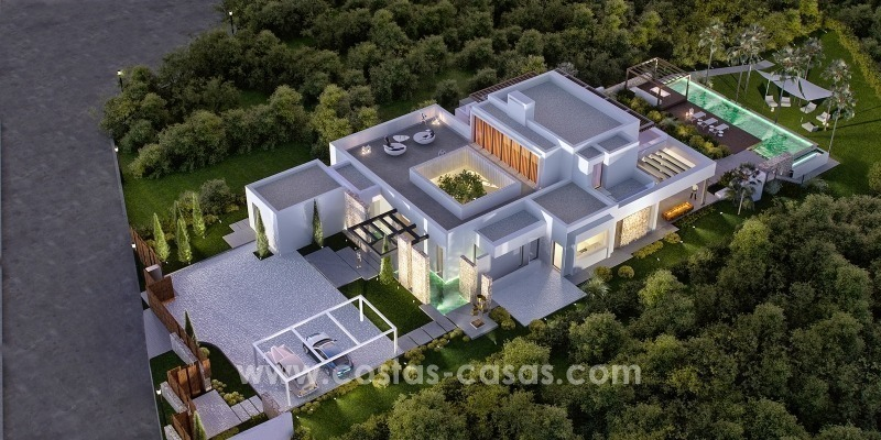 Moderne eerstelijn golf Villa te koop in golfresort op de New Golden Mile, Benahavis – Marbella