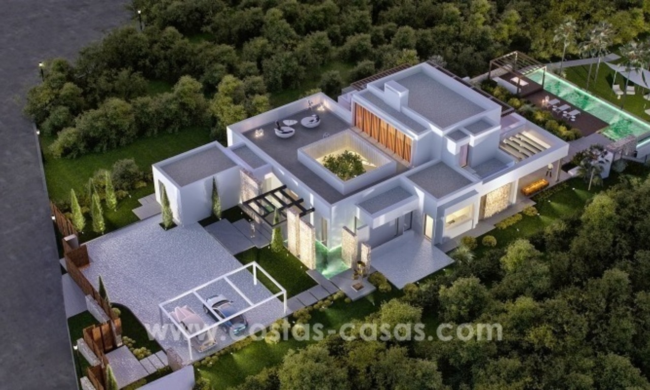 Moderne eerstelijn golf Villa te koop in golfresort op de New Golden Mile, Benahavis – Marbella 0