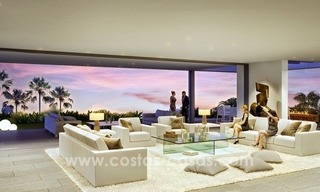 Moderne eerstelijn golf Villa te koop in golfresort op de New Golden Mile, Benahavis – Marbella 3