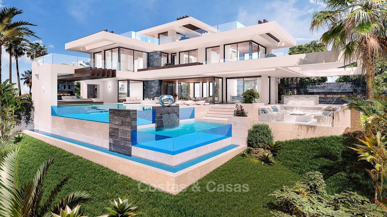 Luxe moderne nieuwe villa golf zeezicht te koop benahavis for Moderne luxe villa