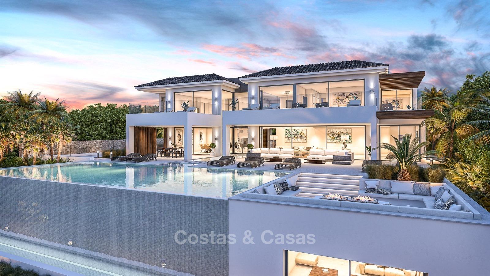 Luxe moderne villa te koop frontlijn golf el paraiso for Moderne luxe villa