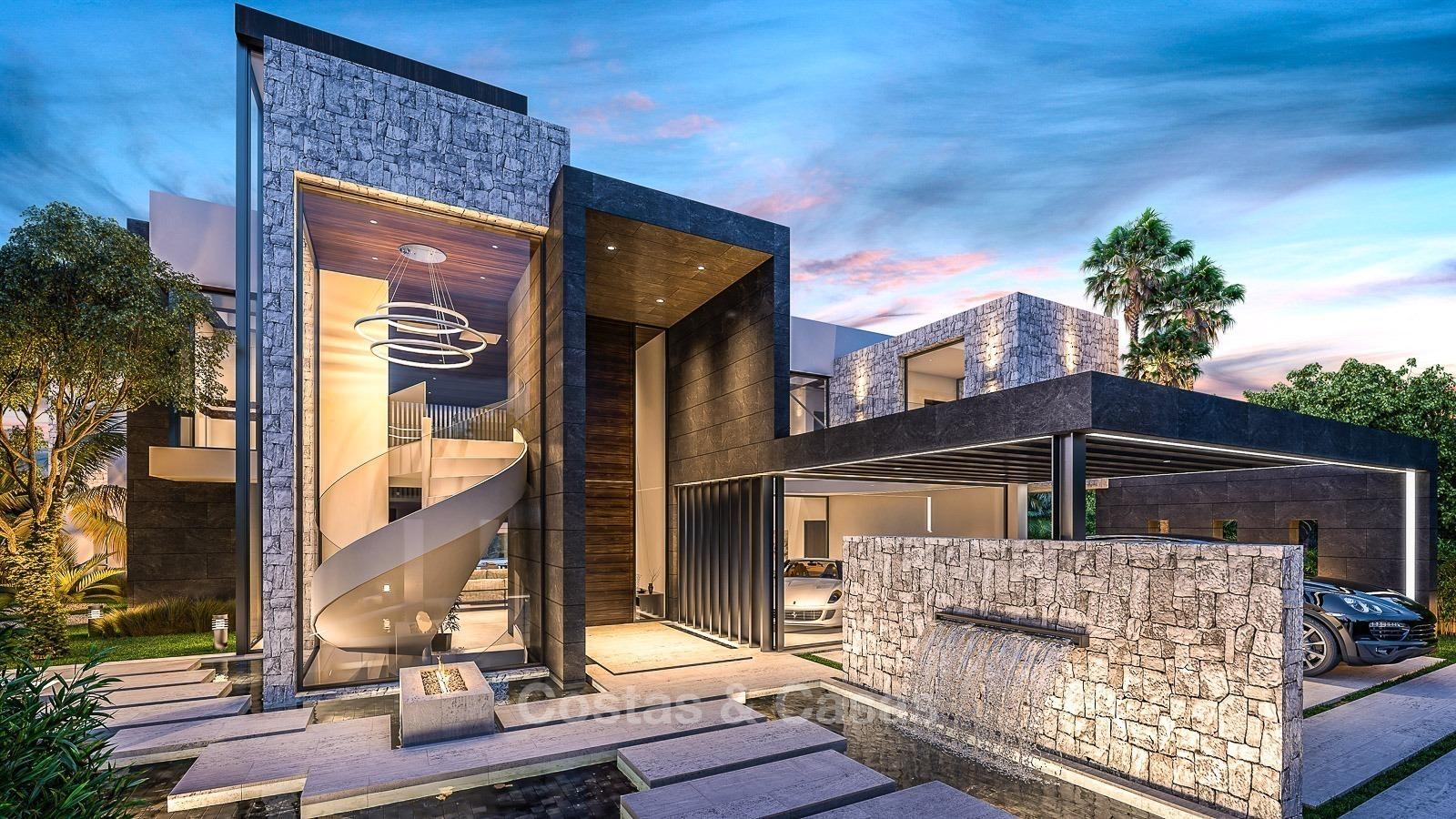 luxe moderne villa te koop in marbella aan golf met zeezicht. Black Bedroom Furniture Sets. Home Design Ideas