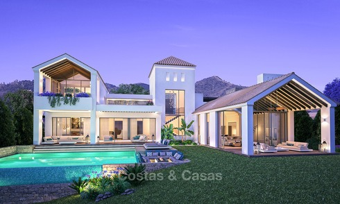 LAATSTE VILLA! Gated Golf Resort, Frontline Golf Villa's te koop aan de New Golden Mile, Marbella - Estepona 3285